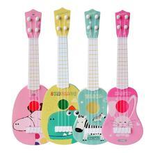 Мини-гитара укулеле с четырьмя струнами, музыкальный инструмент для детей, развивающие игрушки, игрушка для раннего интеллектуального развития