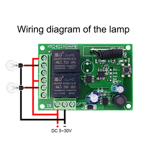 Image 4 - GERMA interruptor con Control remoto para control remoto, módulo de relé Universal de 24V, 2 retardo de 433MHz, 5 30V, 2 canales
