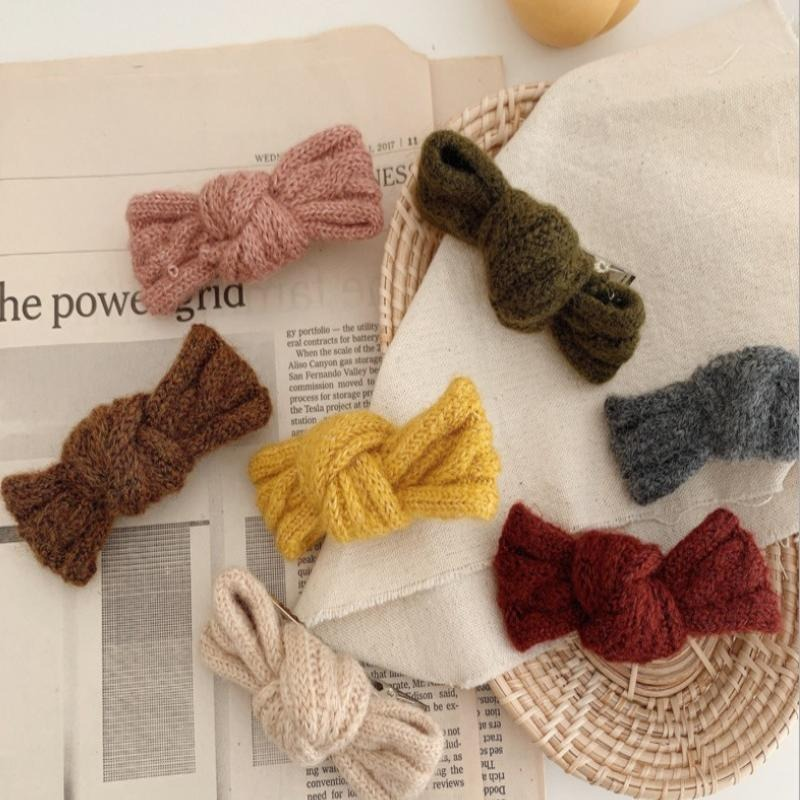 Cute Wild Wool Bow Hairpin Autumn And Winter Side Clip Hairpin Bangs Clip