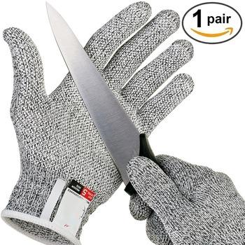 Rękawice antyprzecięciowe odporne na przecięcie odporne na uderzenia bezpieczeństwo wędkarstwo polowanie rękawice oddychające ryby mięso rzeźnik odporne na przecięcie rękawice robocze tanie i dobre opinie DEDOMON fishing breathable cut protection resistant gloves Z palcami Ochrona przed skaleczeniem HPPE(high-pressure polyethylene)
