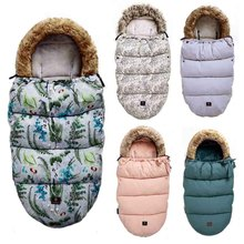 Saco de dormir de carrito para bebé, saco de dormir cálido para invierno, a prueba de viento, sobres para silla de ruedas infantil