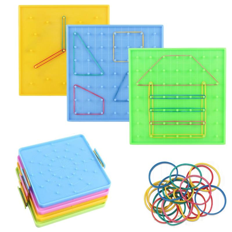 Пластиковая пластина для ногтей, инструмент для первичной математики, геометрия, демонстрация, Детская развивающая игрушка, обучающий инст...