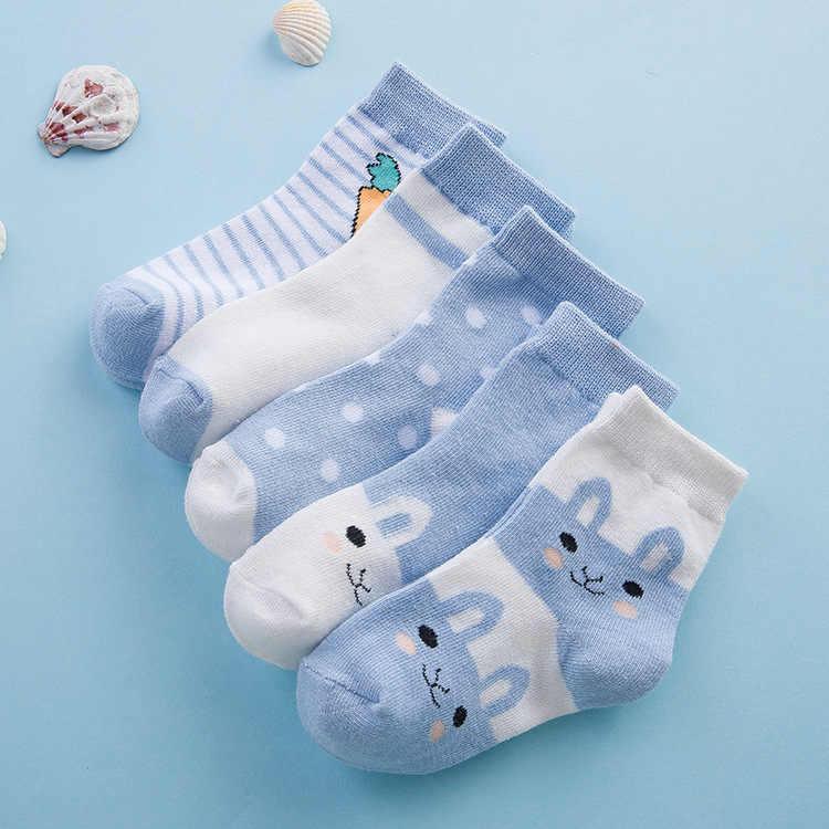 Calcetines de malla de conejo finos para recién nacidos, calcetines para bebé y niñas, 5 pares = 10 unidades