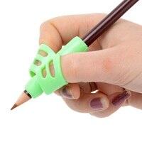 3 pçs crianças lápis titular dispositivo de correção postura silicone bebê aprendizagem escrita ferramenta aperto artigos de papelaria suprimentos 5*4cm|Refil p/ caneta|   -