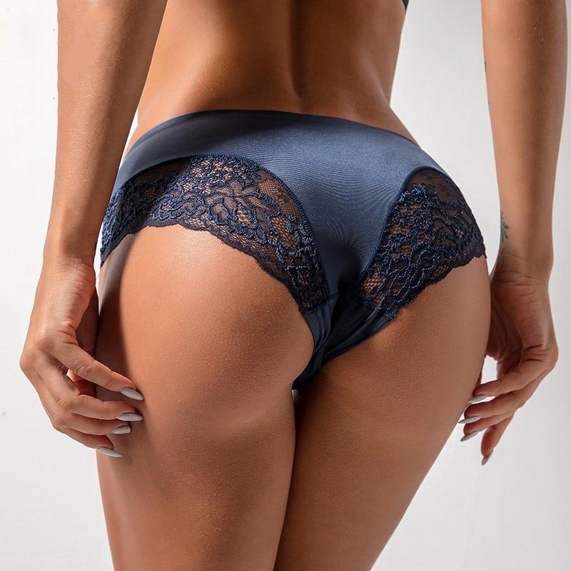 Бесшовное женское нижнее белье luckymily, женские шелковые трусики с низкой талией, сексуальные стринги, женские трусы, удобное нижнее белье
