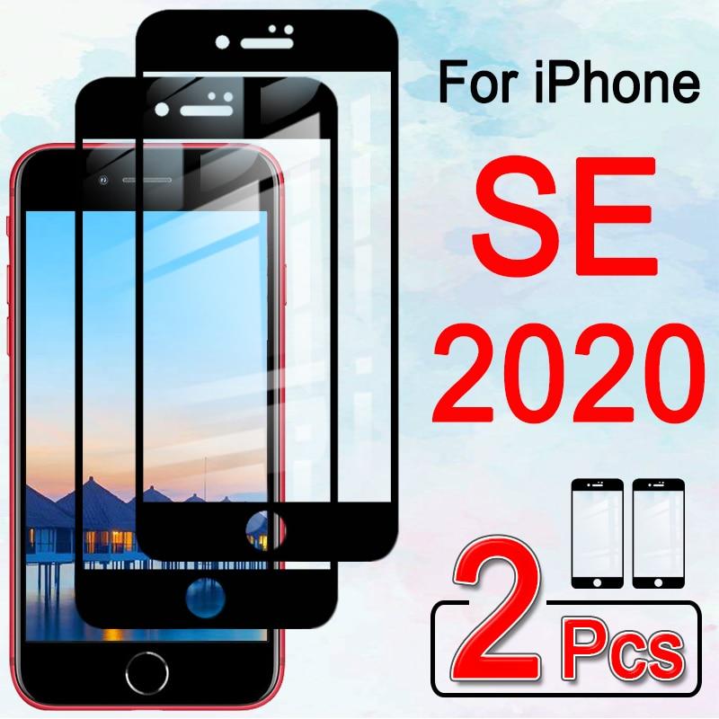 Para o iphone se 2020 protetor de tela de vidro protetor de proteção iphonese se2020 em i telefone 12 pro max temperado vidro armadura folha filme 2 pçs
