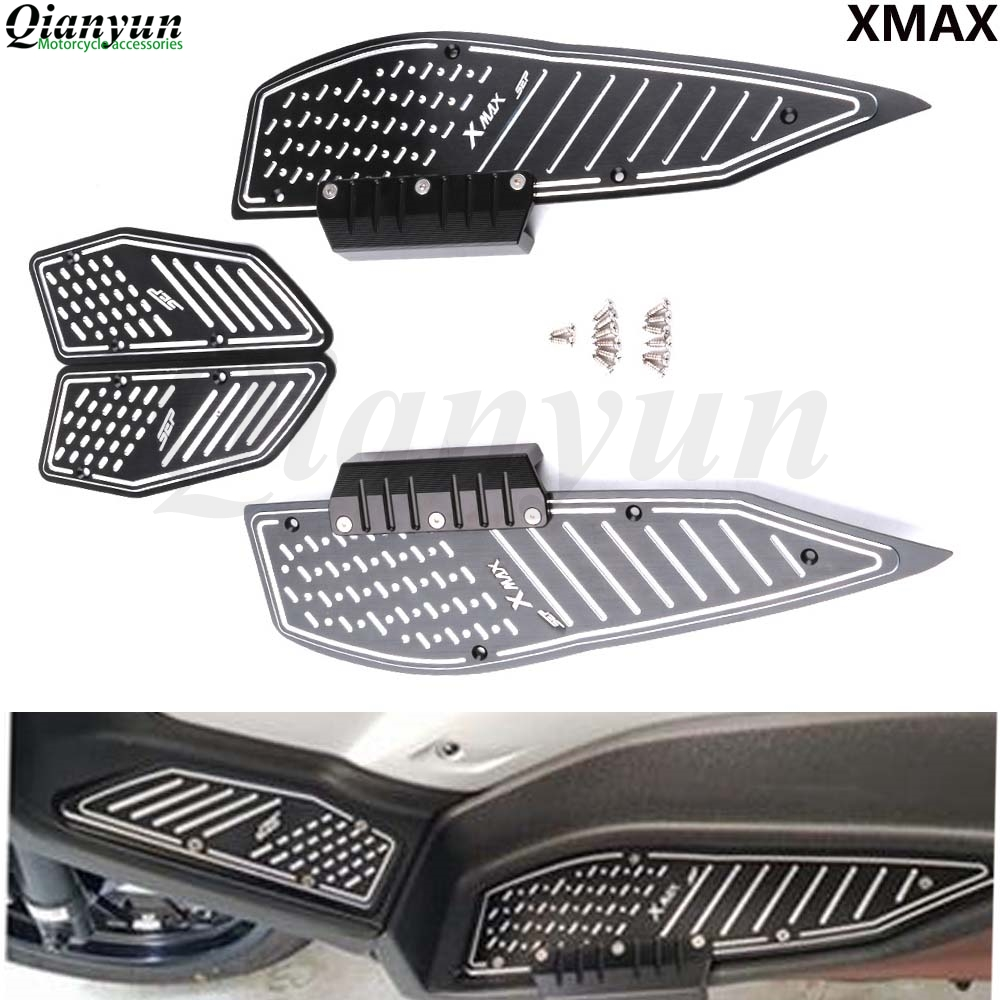 Motorcycle Modified X MAX 2017-2019 Accessories CNC Footrest Footpads Foot Pegs Pedals Plate Pads For Yamaha XMAX300 400 125 250