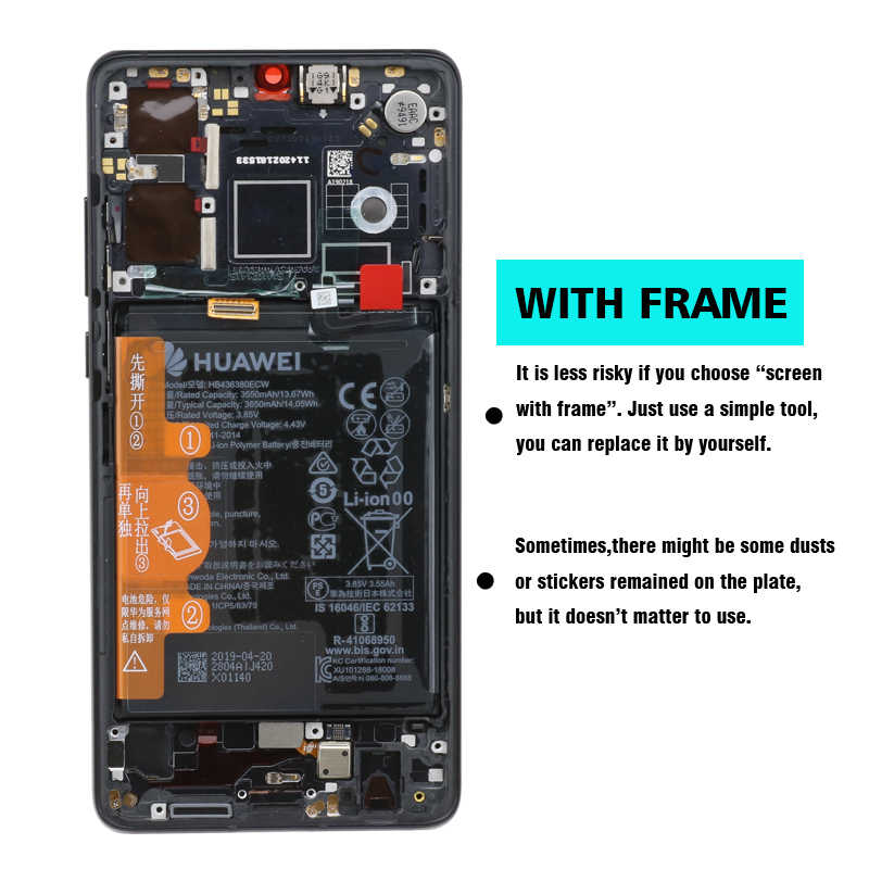 """Ban đầu năm 6.1 """"Cho Huawei P30 LCD ELE-L29 ELE-L09 Màn Hình Bộ Số Hóa Cảm Ứng Thay Thế Cho Huawei P30 LCD ELE-AL00"""