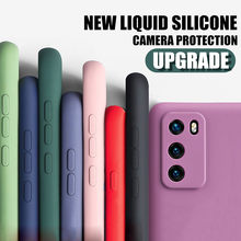 Liquid Silicone Case For Redmi Note 9 9s Pro Max 8 7 K30 10X Pro 9A Cover For Xiaomi Note 10 Lite 9 9SE Lens Protection Cases(China)