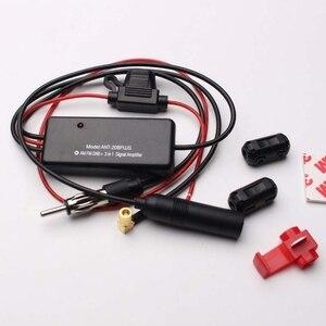 Универсальный 12V Авто ANT-208PLUS 3-в-1 автомобильное радио FM AM DAB антенна усилитель сигнала