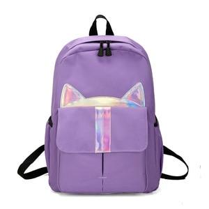 Image 2 - New Kids Backpack Girls Boy Children Teenagers Student School Backpacks For Girl Cute Cat Ear Backpack Schoolbag Cartable Enfant