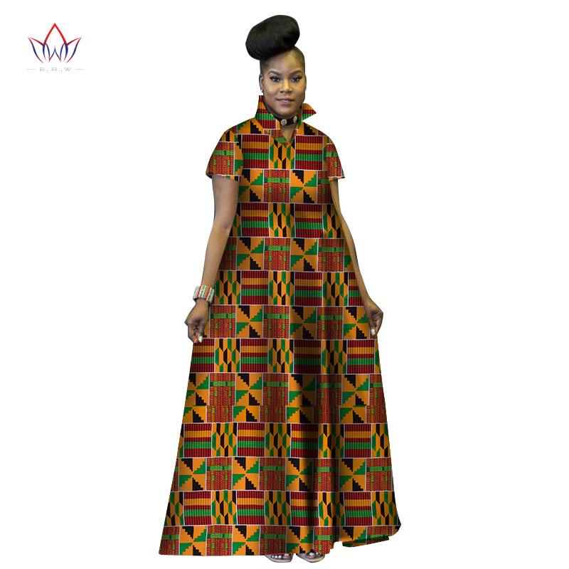 Африканское длинное бальное платье с принтом базеновое роскошное
