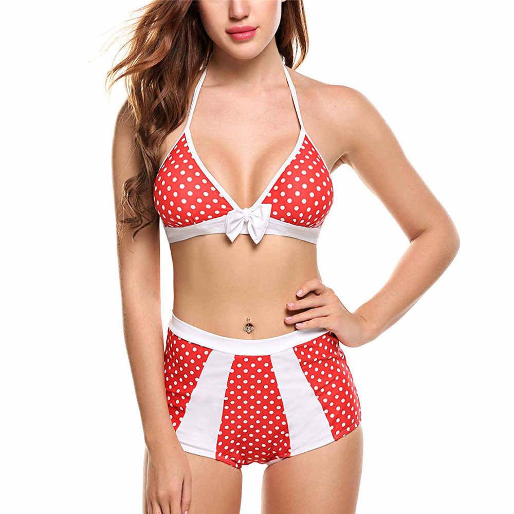2019 бикини женские комплект Холтер сексуальный купальник Бразильский купальный костюм пуш-ап бикини высокая талия женский купальник