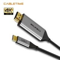 Cable DisplayPort 4K 60Hz Cable USB Thunderbolt 3 USB 3,1 a DP adaptador USB a DP UHD Video externo N308