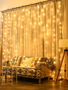 Coversage Led-Lights Curtain Decorative Garland Fairy Christmas Outdoor 3X3M Home