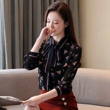 Korean Fashion Chiffon Womens Tops and Blouses Office Lady Women Blouses Plus Size XXL Blusas Femininas Elegante Ladies Tops