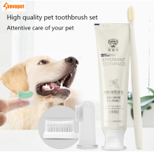 VOVOPET Pet Dog Cat Toothbrush Toothpaste Set Chicken flavor Pets Puppy kitten Teeth Brush Dogs Oral Care Sets
