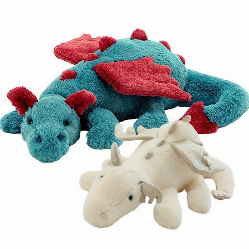 Пушистые волосы, голубой птерозаврия, дракон, кролик, плюшевая игрушка, набивная зло, красные крылья мухи, Огненный Дракон, плюшевые куклы, и...