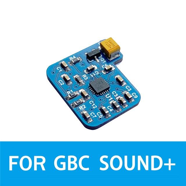 Nintend GBC 게임 콘솔 수리 부품 용 GBC 사운드 오디오 앰프 3x 디지털 볼륨 향상 모듈 용