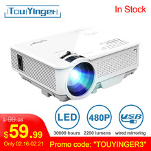 TouYinger FÜHRTE Mini projektor M4, 800x480 unterstützung Full HD video beamer für Heimkino, 2200lumen film projektor Media Player(China)