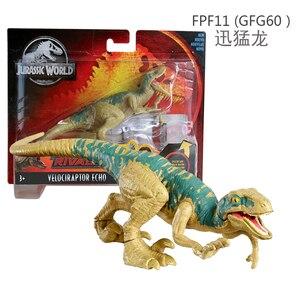 Image 2 - 16 20cm Original Jurassic World Toys Attack Pack Velociraptor Triceratops Dragon PVC Action Figure Model Dolls Toys For Children