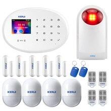 KERUI W20 yeni 2.4 inç TFT renkli ekran WIFI GSM ev güvenlik Alarm sistemi takım elbise APP kontrol hareket dedektörü hırsız