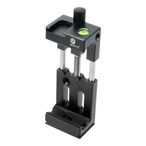 Image 2 - XJ 8 Tripod Head Bracket Mobile Phone Holder Clip For Phone Flashlight Microphone With Spirit level and Cold Shoe Mount