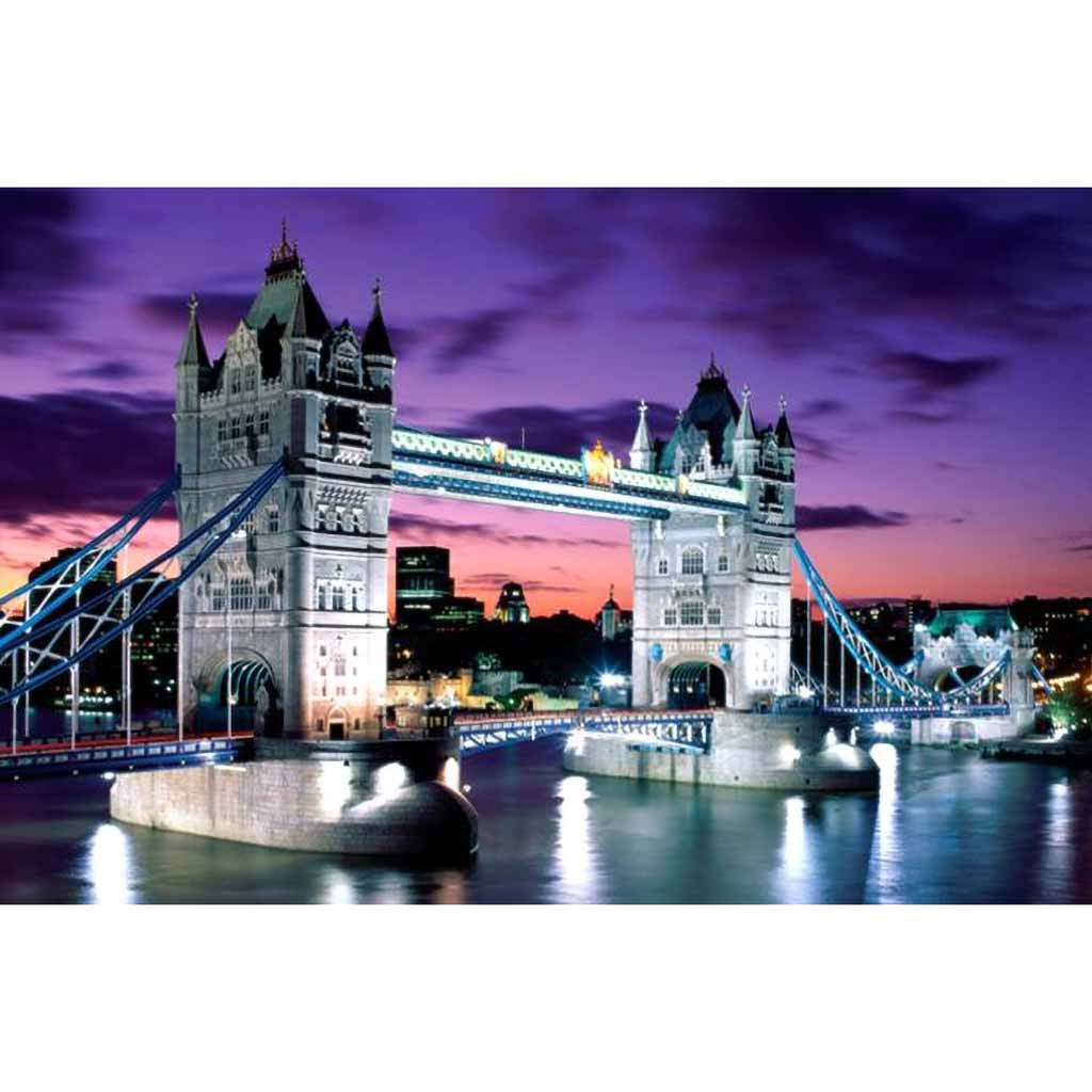 Puzzle 1000 Pieces Landscape Puzzle Game Toys 16.5x11.7 Inch Educational Toys Or Adults Puzzle Toys Kids Children London Bridge