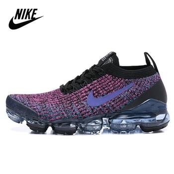 флогер wild black red Original Nike Air VaporMax 3.0 2019 atmospheric cushion wild jogging shoes Women's size 36-39 black purple red AJ6900-009