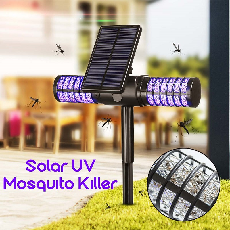Solar Mosquito Killer Lamp USB charging Outdoor Waterproof UV LED Lawn Light Camping Lamp Bug Zapper Mosquito Fly Bug Lighting Mosquito Killer Lamps     - title=