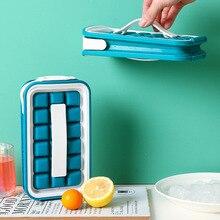 Форма для льда 2 в 1, портативный креативный чайник, кубический контейнер, круглая форма для льда, «сделай сам», решетчатый чайник, барный кух...