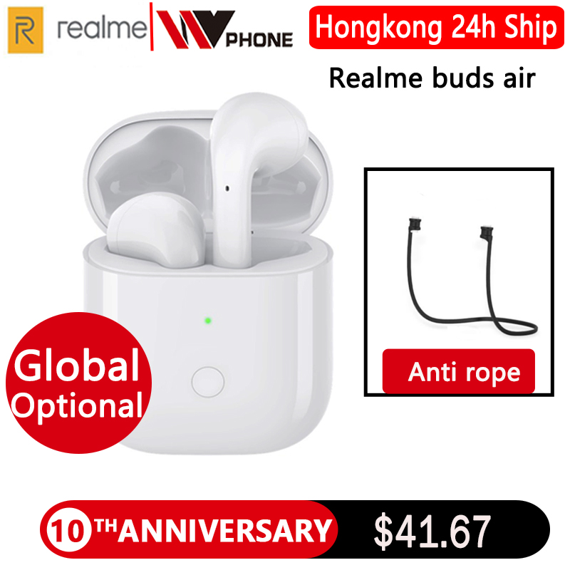 Global Version realme Buds Air Wireless Earphones True Wireless Charing R1 Chip Dual Mic For realme X X2 Pro x50 Pro|Bluetooth Earphones & Headphones| |  - title=