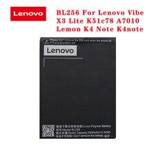 20pcs/lot Original Battery BL256 For Lenovo Lemon K4 Note K4note / Vibe X3 Lite K51c78 A7010 Batteria AKKU In Stock 3300mAh original 20pcs lot rclamp0524j tct 0524j slp2710p8 in stock