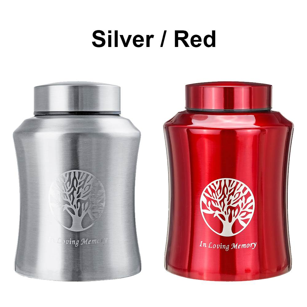 800ml /500/250ml Pet Memorial Urn Cremation Mini Urns For Pet/ Human Ashes Casket Funeral Stainless Steel Cremation Storage Jar