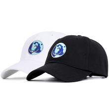 AliExpress Explosions Embroidered Earths Smiling Baseball Cap put on a happy face Soft Top