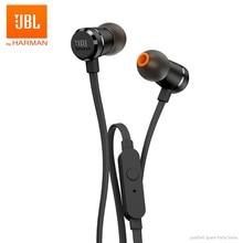 JBL T290 przewodowe słuchawki Stereo sportowe czysta basowy zestaw słuchawkowy dostroić 290 1-przycisk zdalnego słuchawki douszne głośnomówiący z mikrofonem dla smartfonów