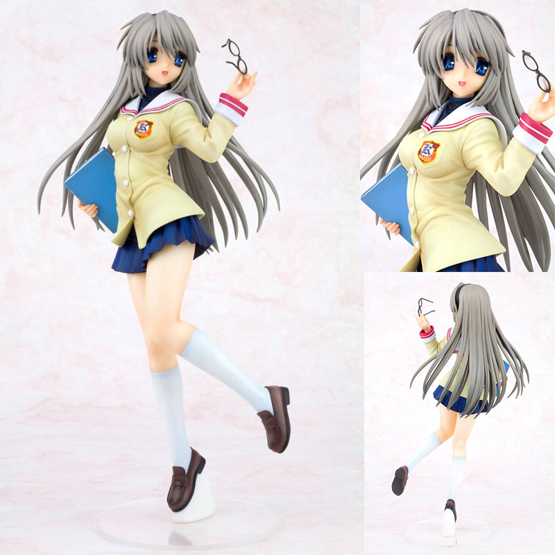 25CM <font><b>Anime</b></font> <font><b>CLANNAD</b></font> Figures Sakagami Tomoyo Uniforms Ver. 1/6 proportion PVC Action Figure Collectible Model Toy Christmas Gift image