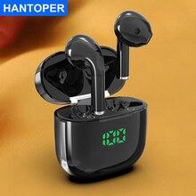 HANTOPER TWS Bluetooth 5.1 Headphones Mini True Wireless Earphone Stereo Bass Earbuds With Microphon