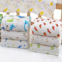 6 слоев морщин муслиновые одеяла для новорожденных пеленание хлопок пеленание для новорожденных младенцев банное полотенце детские плед