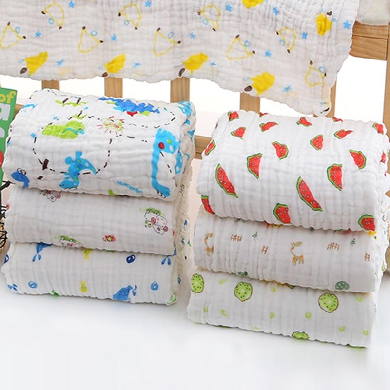 6 Layer Wrinkle Muslin Baby Blankets Swaddling 100% Cotton Swaddle For Newborn Babies Bath Towel Blanket Baby Kids Bedding Wrap
