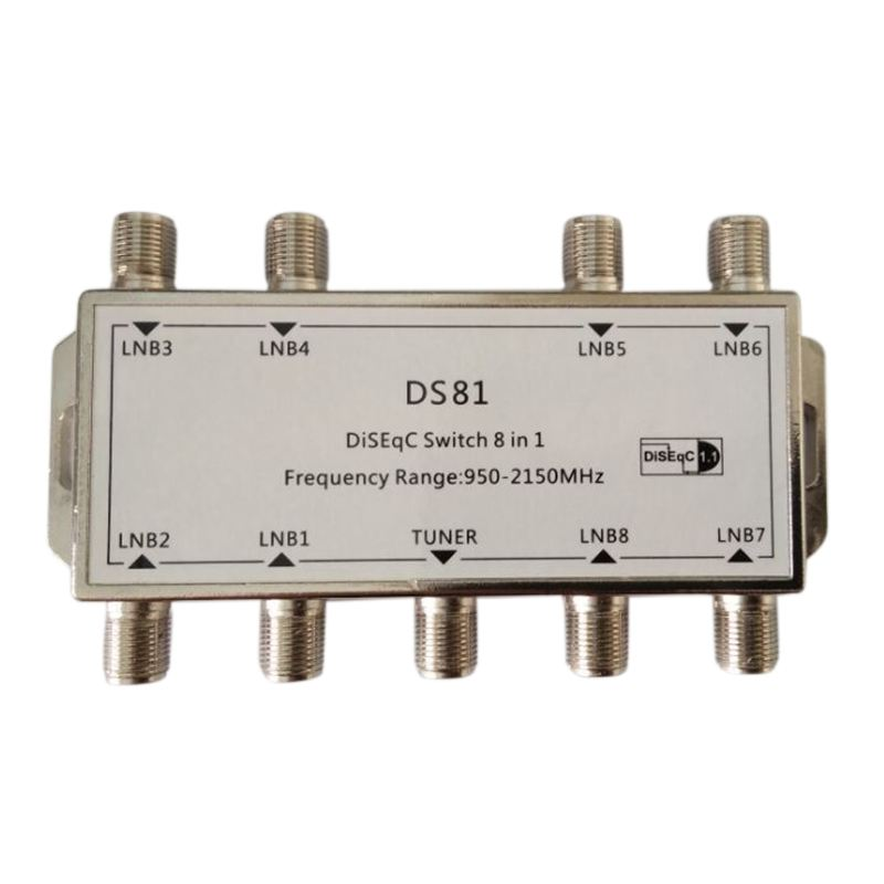 8x1 8/1 DiSEqC Switch Switch Sat Distributor Switch For 8 Satellites