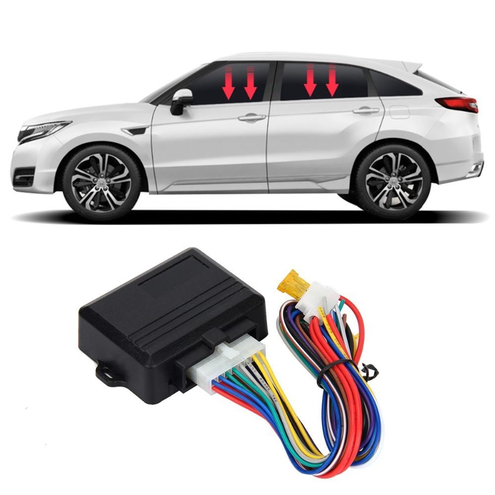 Speedwow Universal Mobil Power Jendela Roll Up Lebih Dekat untuk 4 Pintu Auto Menutup Jendela dari Jarak Jauh Tutup Jendela Modul Alarm Sistem