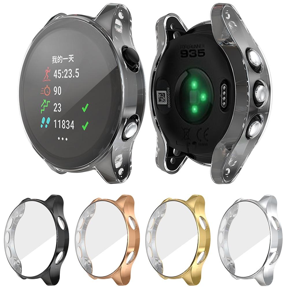 Ultra-Slim Clear Tpu Plating Protector Case Cover For A Voor Garmin Forerunner 945/935 Smart Horloge Beschermende Accessoires Kzy
