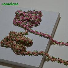Dentelle vénitienne, accessoires de dentelle, tissus textiles, bricolage, 1.5cm de large, Rose, mixte Floral, haute qualité