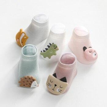 Soft Cotton Baby Girls Socks Newborn Cartoon Animal Ankle Infant Boy Anti Slip Floor Sock Casual Style - discount item  49% OFF Baby Clothing