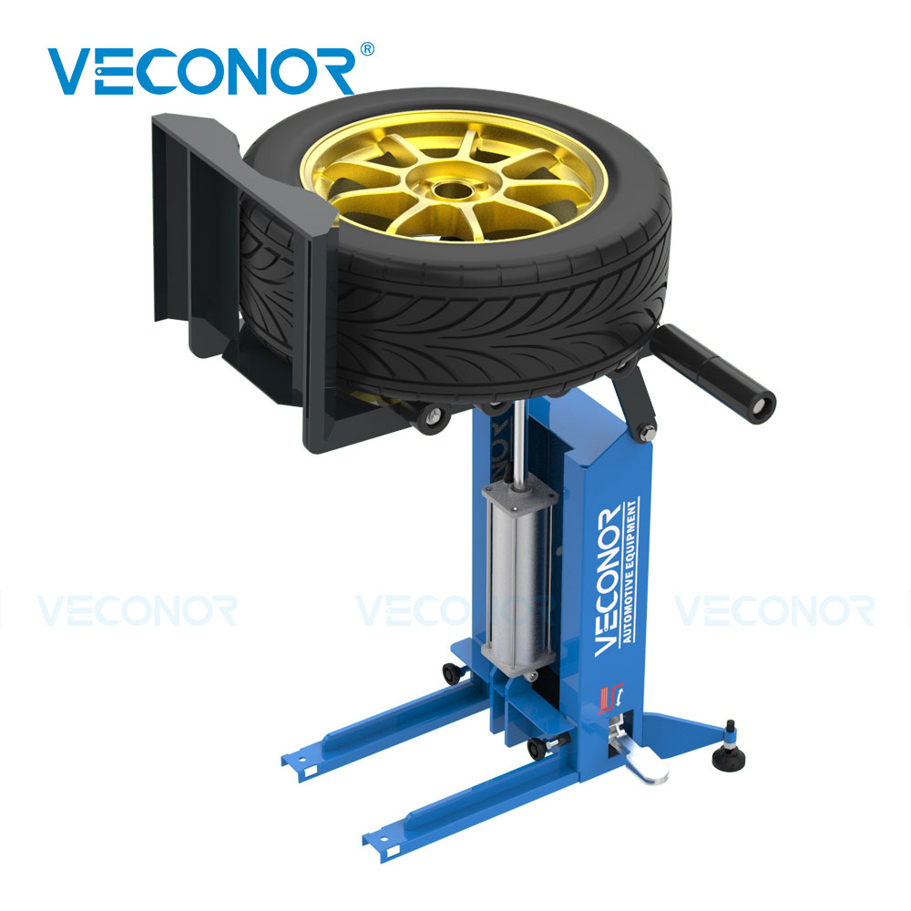 VECONOR Pneumatic Tyre Wheel Lifter For Tire Changer Universal Air Operation Tire Lifting Machine Wheel Moving Carrying Device