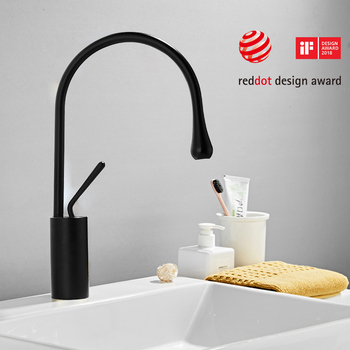 Modern Brushed Gold Basin Faucets Single Handle 360 Rotation Mixer Tap Washbasin Water Crane For Bathroom Vessel Sink Faucets 7