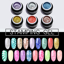BORN PRETTY Nail Stamping Gel 5ml Gel Polish Glitter Print Soak Off UV Lacquer Varnish For Nail Art Stamping Plate born pretty 6 bottles shimmer nail stamping polish set 15ml nail art varnish nail art polish 23200