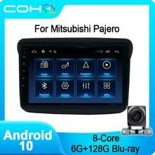 Coho para mitsubishi pajero esporte player multimídia rádio do carro coche android 10.0 octa núcleo 6 + 128g