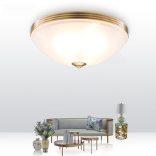 Modern luxurious copper minimalist ceiling light creative glass LED light for living room bedroom dinner room study room e27